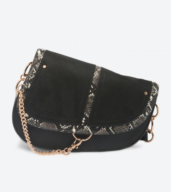 حقيبة كروس فوينيكس بتفاصيل لامعة مع طيّة للإغلاق