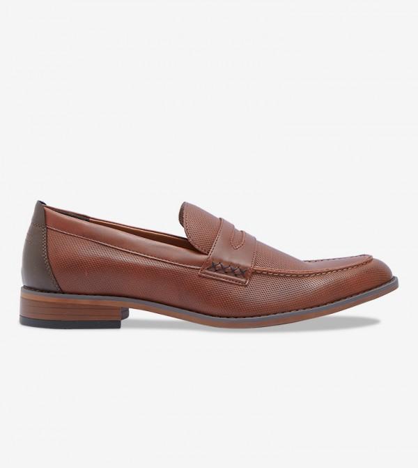 Flat Heel Round Toe Loafers - Brown 30SODERBERGH