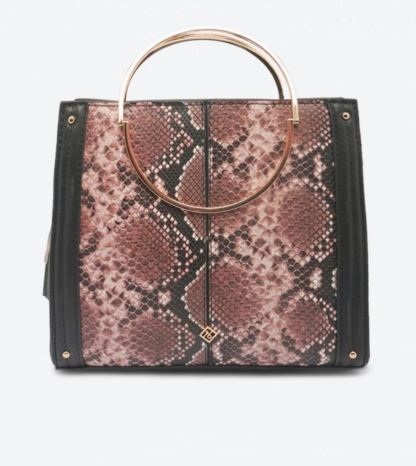 حقيبة كروس فيكسين بمقبض علوي مزدوج مع سحاب للإغلاق