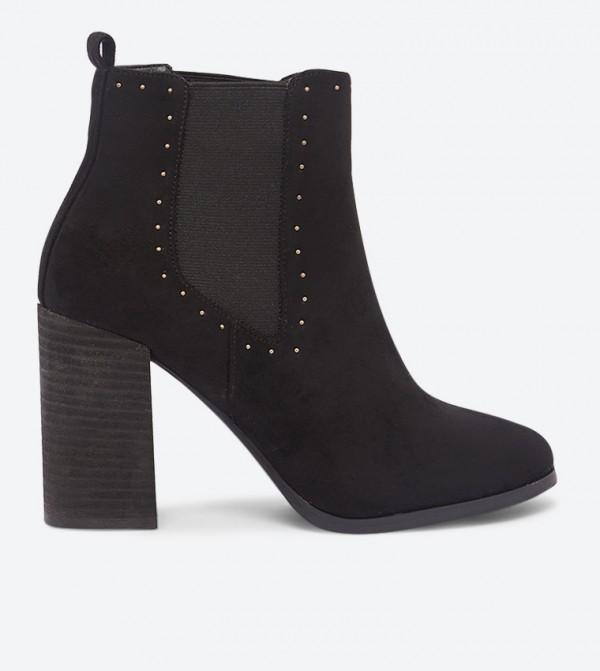 حذاء زوليا بكعب مرتفع ومقدمة مستديرة