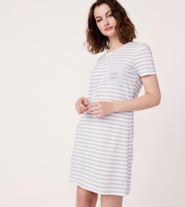 Short Sleeves Sleepshirt - Silver