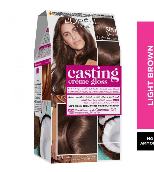 L'Oreal Paris Casting Crème Gloss No Ammonia Hair Color for shiny hair 500 Light Brown