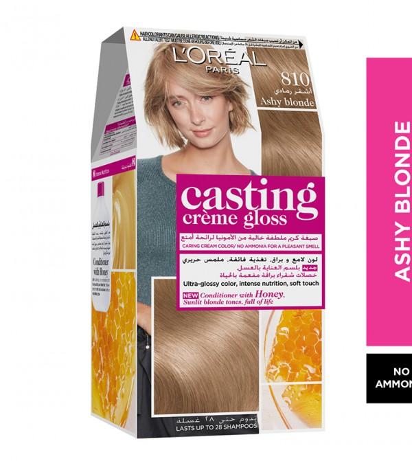 L'Oreal Paris Casting Crème Gloss No Ammonia Hair Color for shiny hair 810 Ashy Blonde