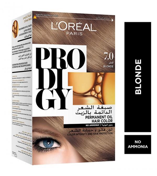 L'Oreal Paris Prodigy Permanent No Ammonia Hair Color, 7.0 Blonde