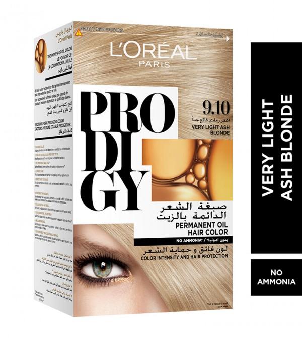 L'Oreal Paris Prodigy Permanent No Ammonia Hair Color, 9.1 Very Light Ash Blonde