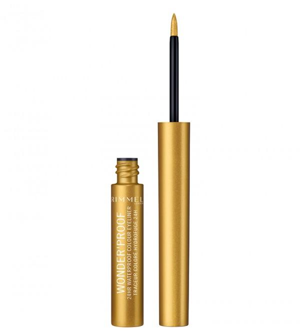 Wonder'Proof 24Hr Waterproof Colour Eyeliner 07 Shiny Gold 1.4 Ml - Gold