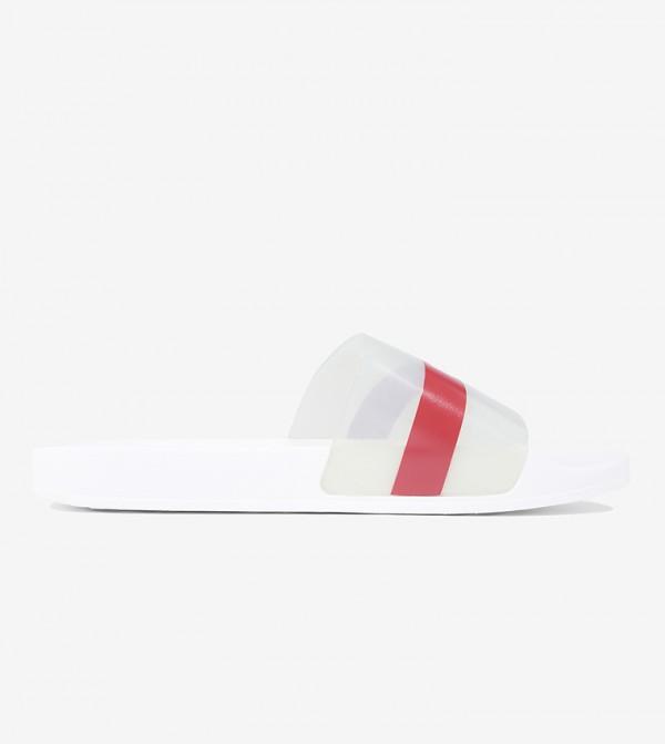 حذاء سهل الإرتداء بلون أبيض