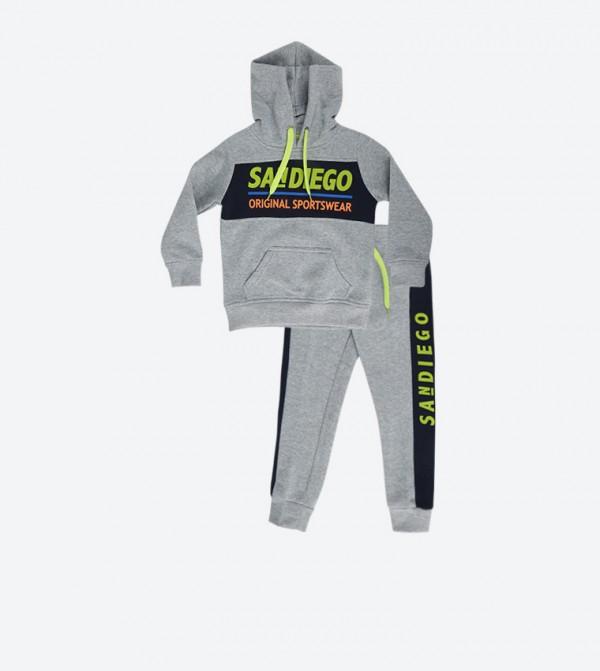 Grey  Sweatshirt and Pants Set