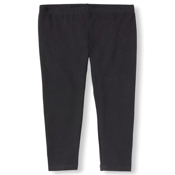 Solid Full Length Leggings - Black