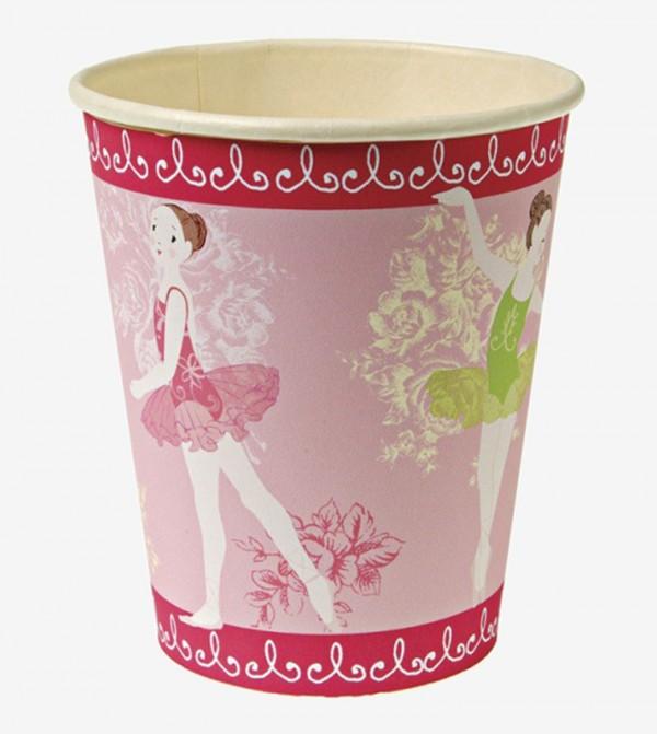 Little Dancers Party Cups Set (12 Pcs) - Pink