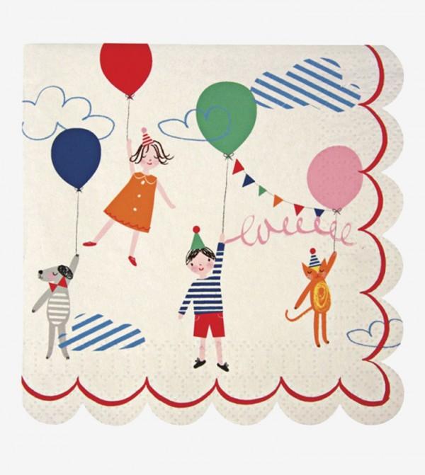 Toot Sweet Children'S Small Napkins Set (20 Pcs) - Pink