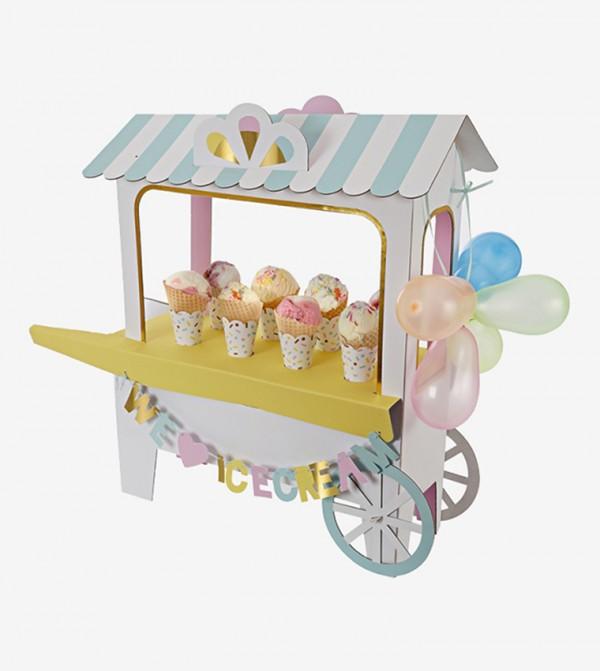Ice Cream Cart Decorative Centrepiece - Multi