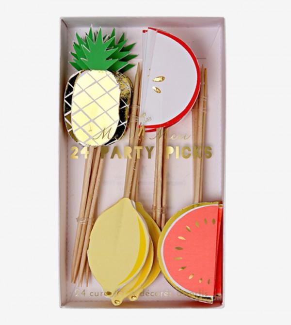 Fruit Party Picks Set (24 Pcs) - Multi