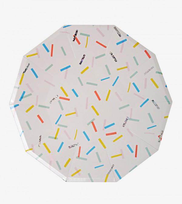 Sprinkles Large Plates Set (8 Pcs) - White