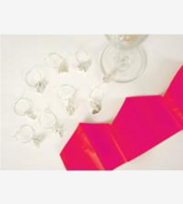 Holographic Striped Mini Crackers Set (6 Pcs) - Silver