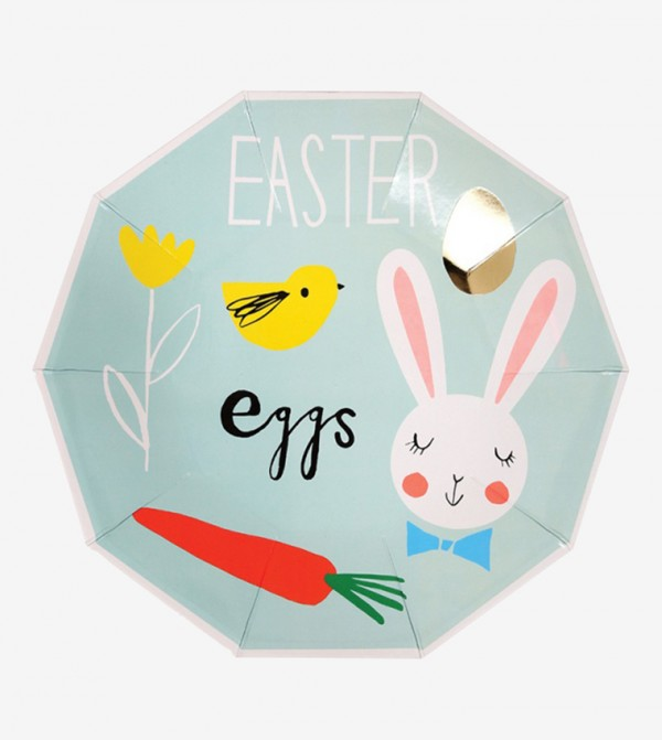 Easter Eggs Plates Set (8 Pcs) - Green
