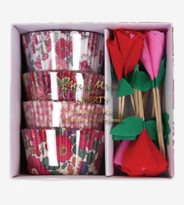 Liberty Cupcake Cases Kit Set (48 Pcs) - Pink