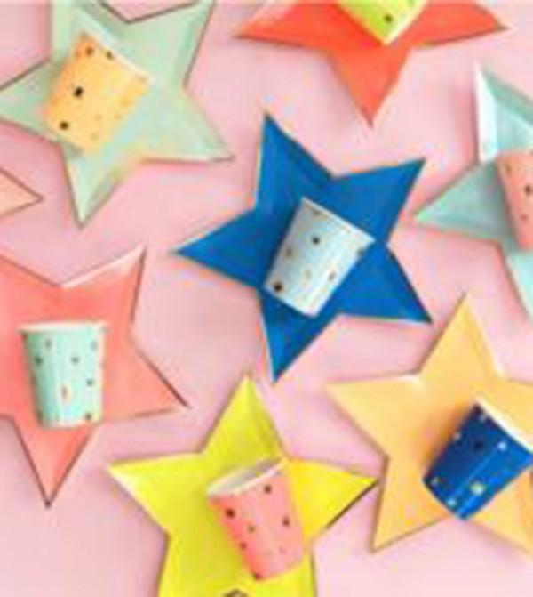 Jazzy Star Plates Set (8 Pcs) - Multi