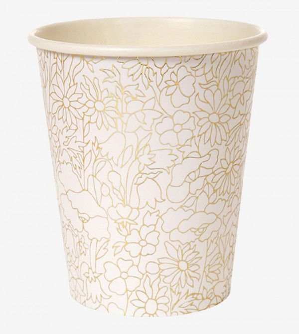 Abstract Betsy Party Cup Set (8 Pcs) - White
