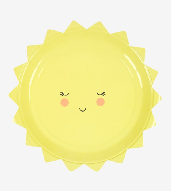 Small Sun Plates Set (12 Pcs) - Yellow