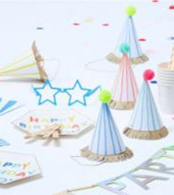 Happy Birthday To You Large Plates Set (8 Pcs) - White