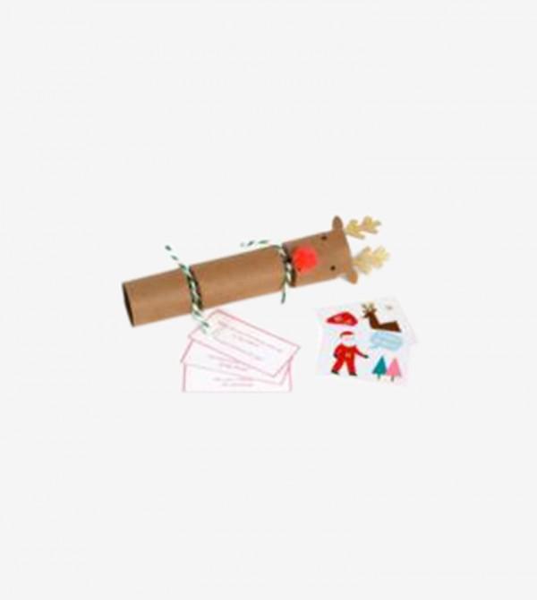 Small Reindeer Crackers Set (6 Pcs) - Brown