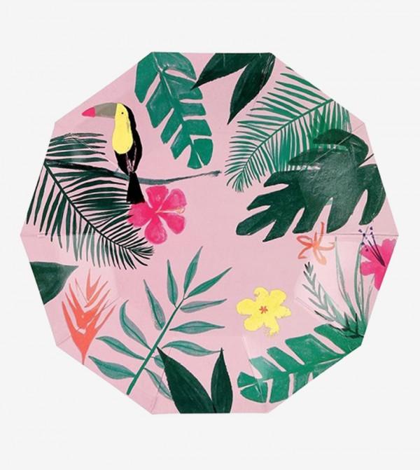 Tropical Small Plates Set (12 Pcs) - Pink