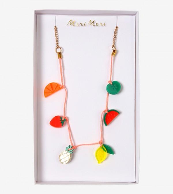 Fruit Charm Pattern Necklace - Multi