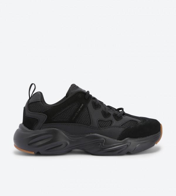 Stamina Airy Mesh Detail Sneakers - Black