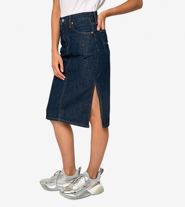 تنورة جينز بفتحات