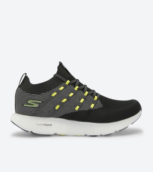 Go Run 7 Lace-Up Closure Sneakers - Black