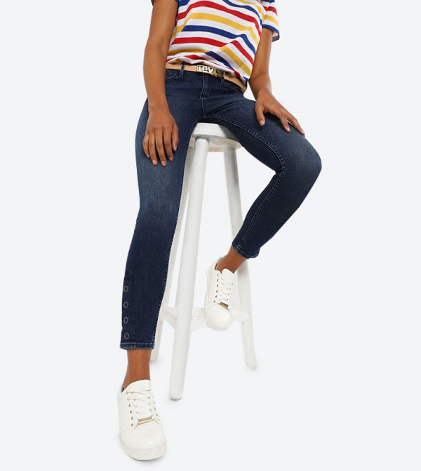 5-Pocket Button Closure 710 Super Skinny Fit Jeans - Blue 560620001