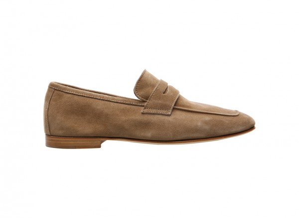 Camoscio Taupe Loafers - 680001