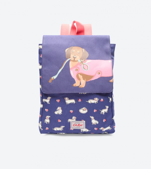 selected material how to purchase newest selection Printed Medium Backpack - Navy 745574 CATH