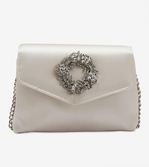 Wreath Trim Clutch - White 7500670164513