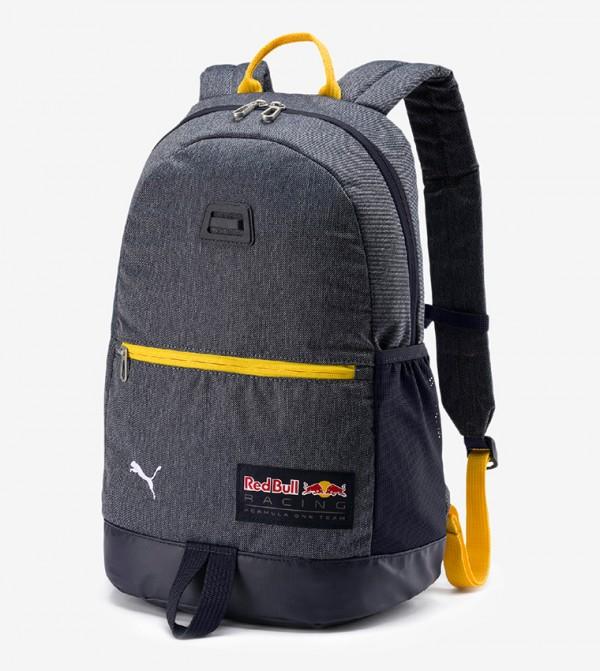 Solid Multiple Pockets Backpack - Blue