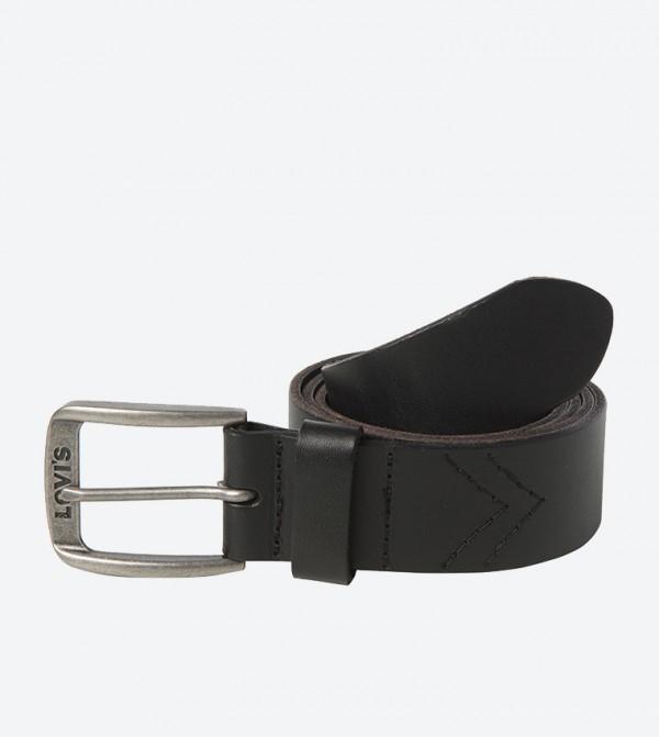 حزام بإبزيم معدني لون أسود