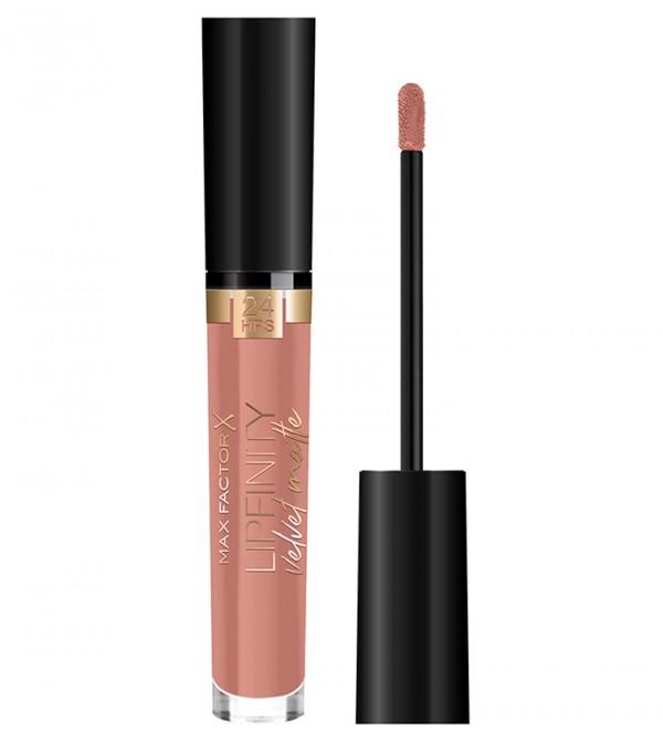 Max Factor Lipfinity Velvet Matte Liquid Lip, 040 Luxe Nude, 3.5 ml