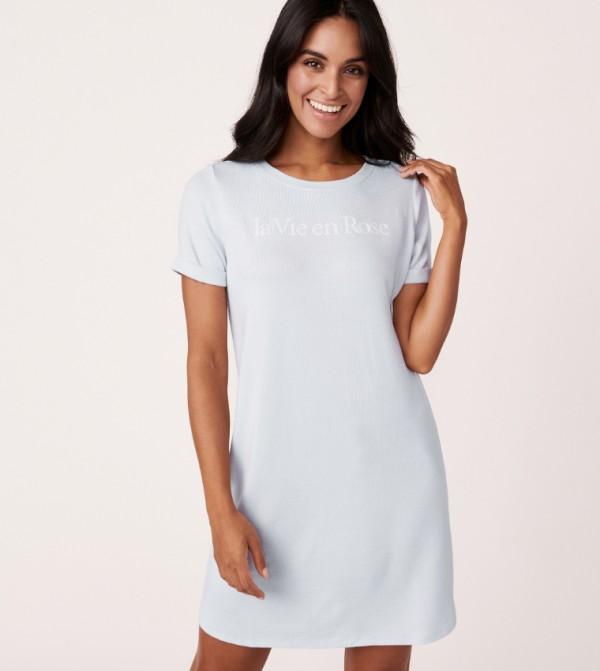 Short Sleeves Sleepshirt - Blue