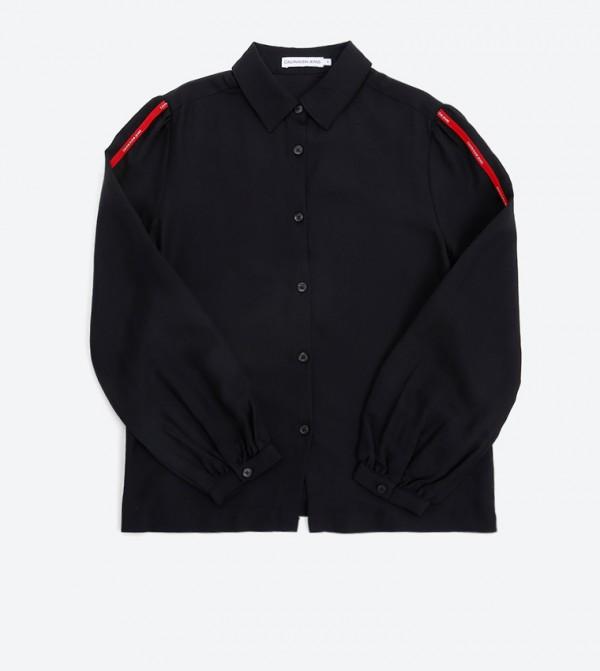 Logo Tape Shirt - Black