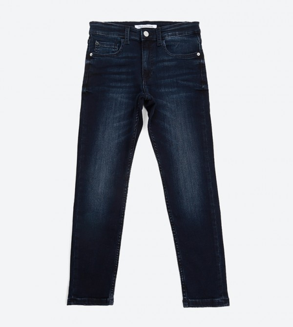 Tapered Pant - Inky Blue Stretch