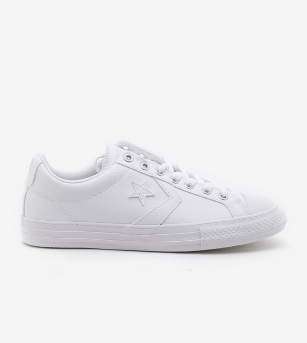 White Canvas Sneakers For Unisex Kids