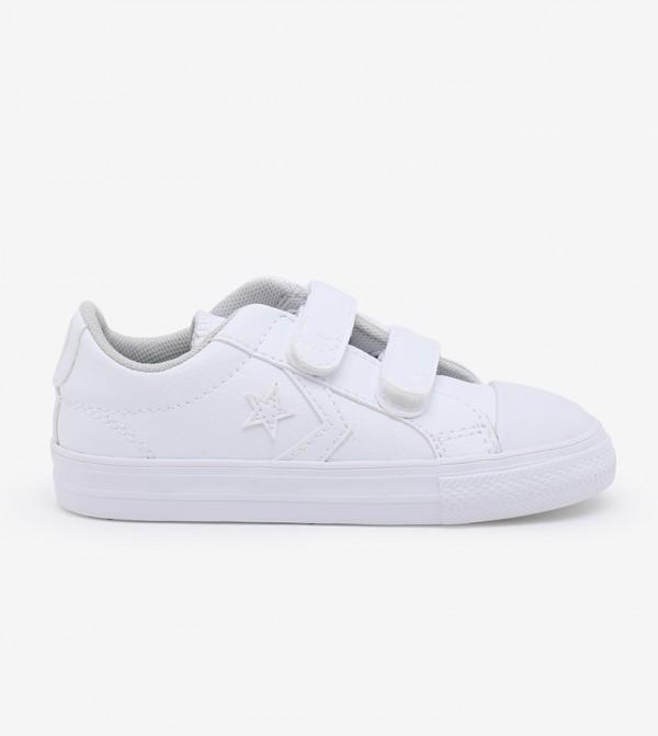 حذاء رياضي باربطة للاطفال - ابيض