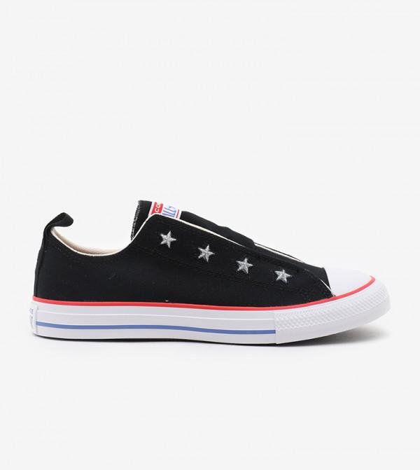 Black Sneakers For Unisex Kids