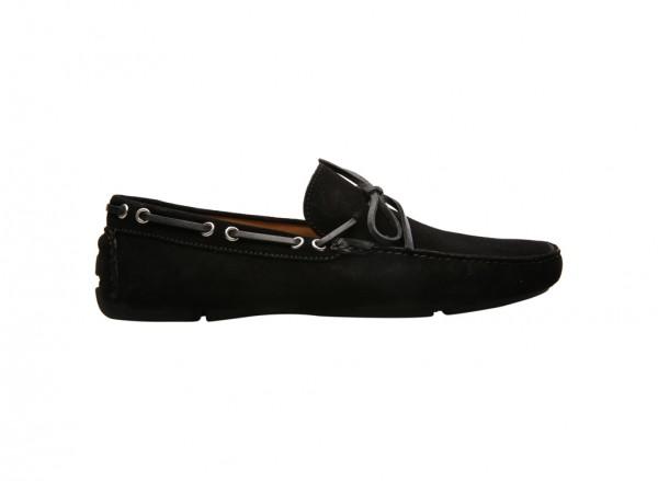 Velour Black Slip-Ons - 90014