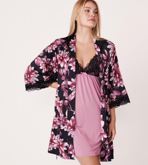 3/4 Sleeves Kimono - Black