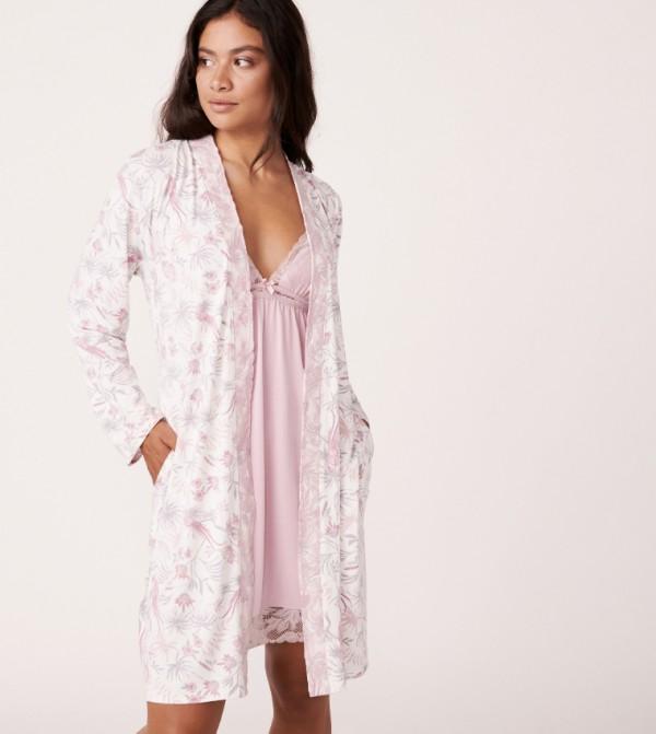 3/4 Sleeves Kimono - Beige