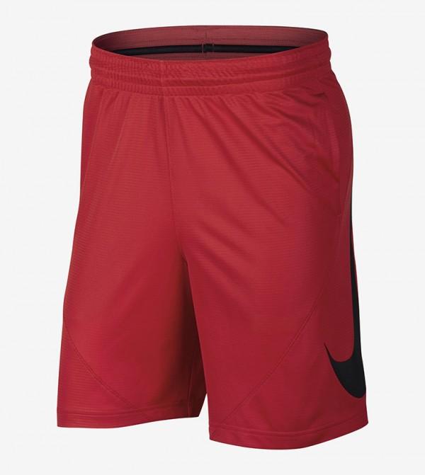Logo Print Shorts - Red