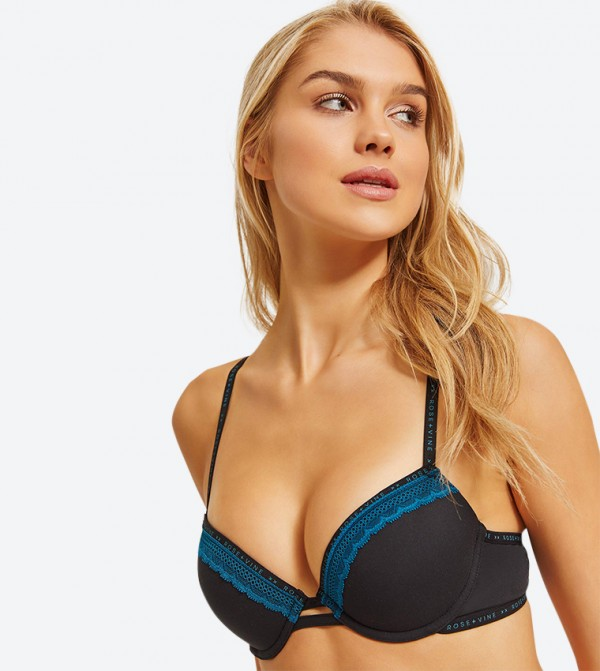 Ultra Soft Push Up Bra - Black