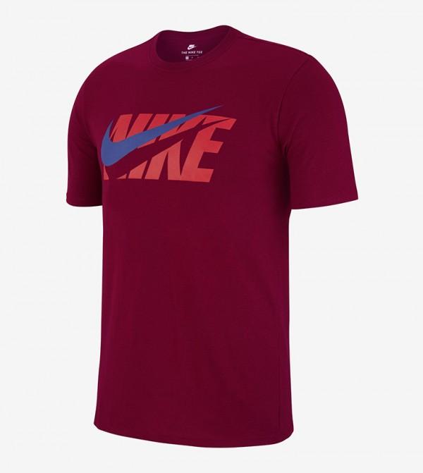 Logo Print T-shirt - Red